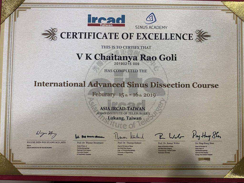 Dr. Chaitanya Rao | The best sinus doctor